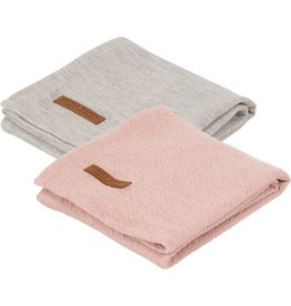 Little Dutch Swaddle Doeken 70x70 cm Pure Pink/Grey