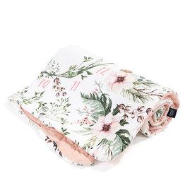 La Millou Deken 80x100cm Wild Blossom Velvet - Powder Pink