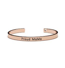 Proud Mama Armband Bangle 'Proud Mama' Roze