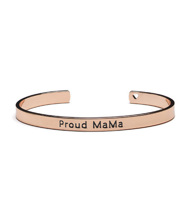 Proud Mama Armband Bangle 'Proud Mama' Roze