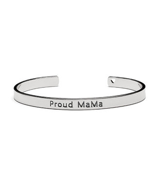 Proud Mama Armband Bangle 'Proud Mama' Zilver