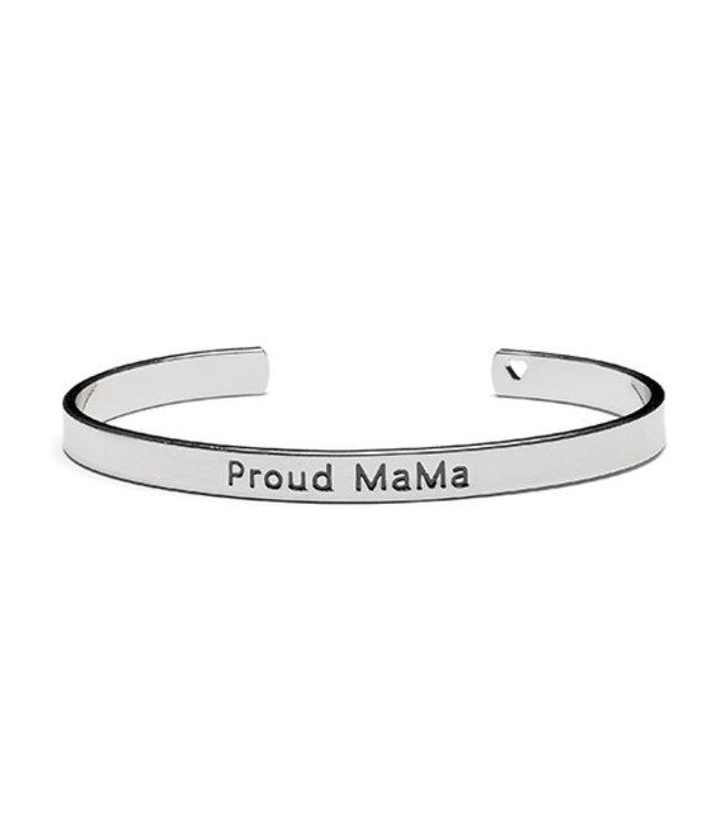 Proud Mama Armband Bangle 'Proud Mama' Zilver