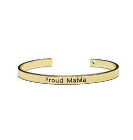 Proud Mama Armband Bangle 'Proud Mama' Goud