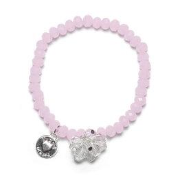 Proud Mama Armband Charm Roze/Beads