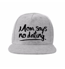 Kidsloft Own Design Own Design Cap 'Mom Says' Grey