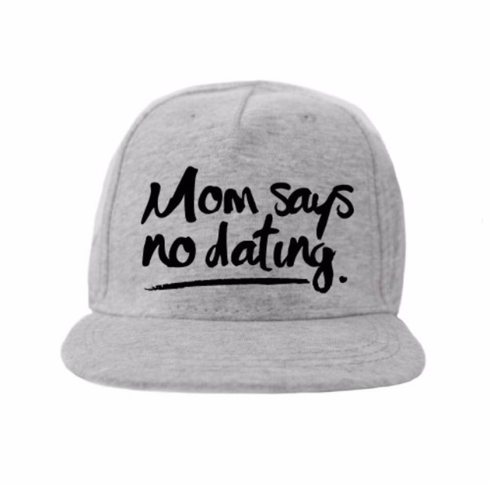 Van Pauline Own Design Cap 'Mom Says' Grey