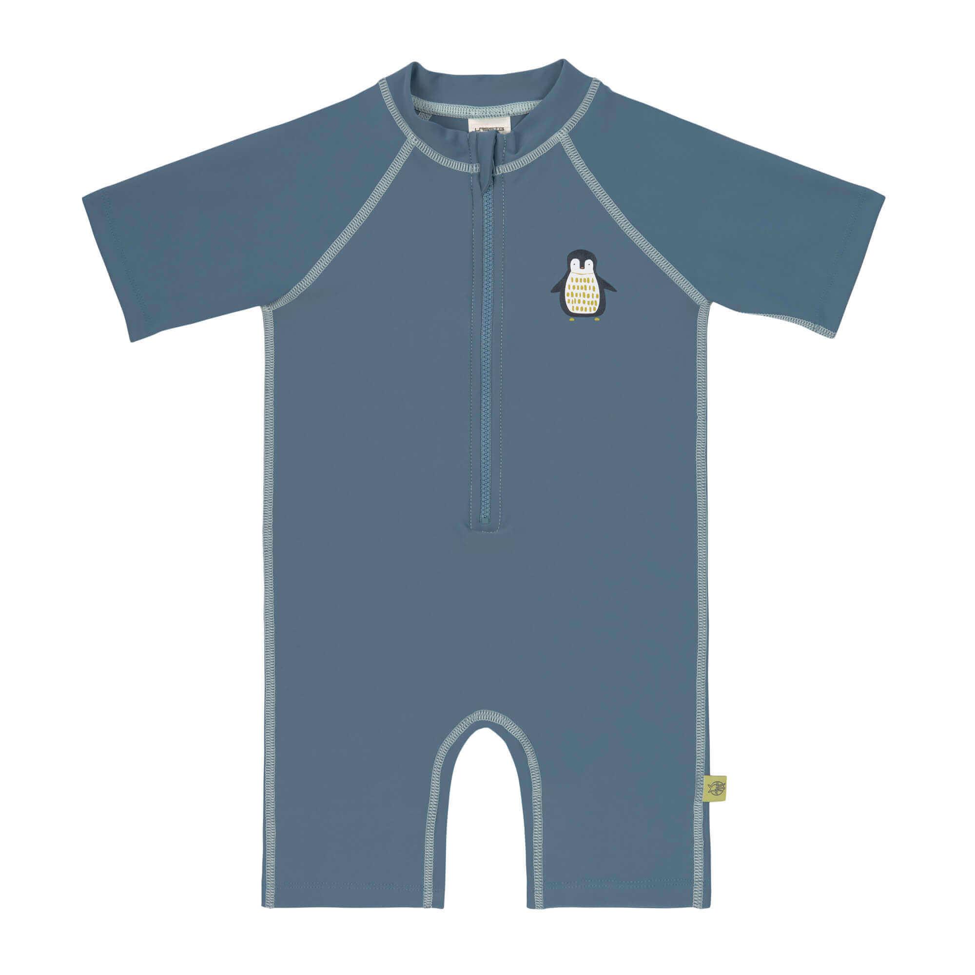 Lassig Short Sleeve Sunsuit Penguin Blue