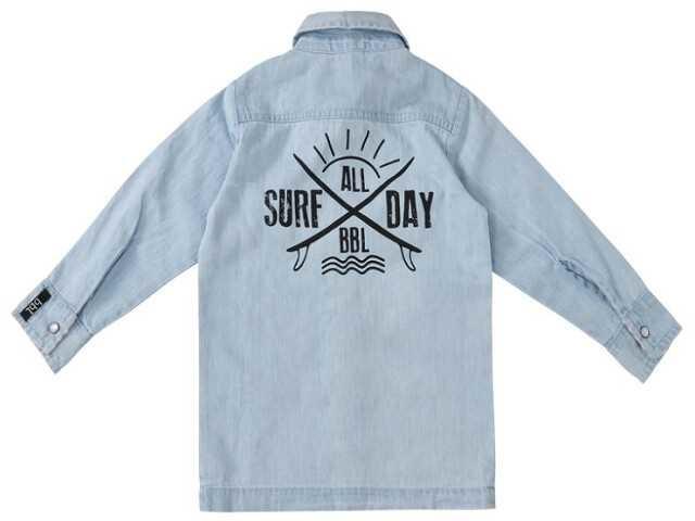 Beebielove Denim Shirt Surf All Day