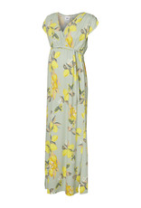 Mamalicious Lemon S/S Jersey Maxi Dress