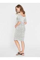Mamalicious Rylee Jersey Dress Snow-White Black