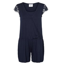 Mamalicious Wenny Jersey Short Jumpsuit Navy Blue