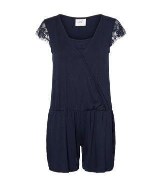 Mamalicious Wenny Jersey Short Jumpsuit Navy Blue