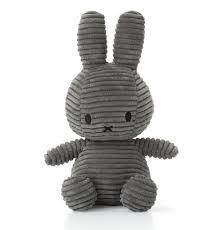 Bon Ton Toys Miffy Corduroy Dark Grey 24cm