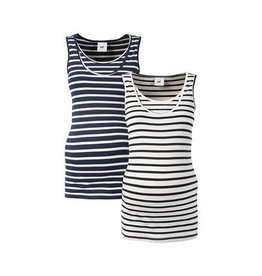 Mamalicious Lea Nursing Tank Top 2pack Blue/White/Black