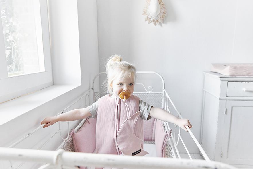 House Of Jamie Slaapzak Baby Geometry Powder Pink