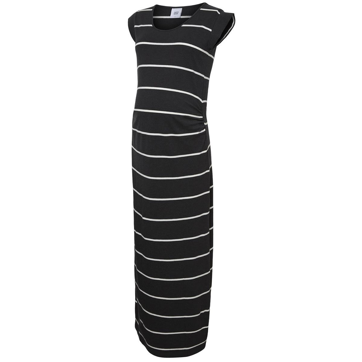 Mamalicious Ally S/S Maxi Dress Jersey Grey/White