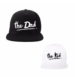 Van Pauline Twinning Cap The Dad & The Kid Black/White