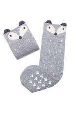 Mama's Feet Rene The Sneaky Fox Knee Socks Grey