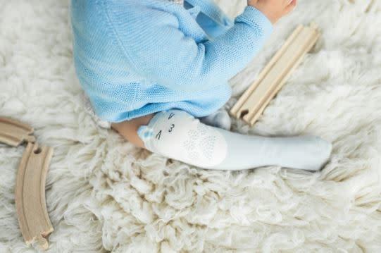 Mama's Feet Hoppies Knee Highs Furry Grey