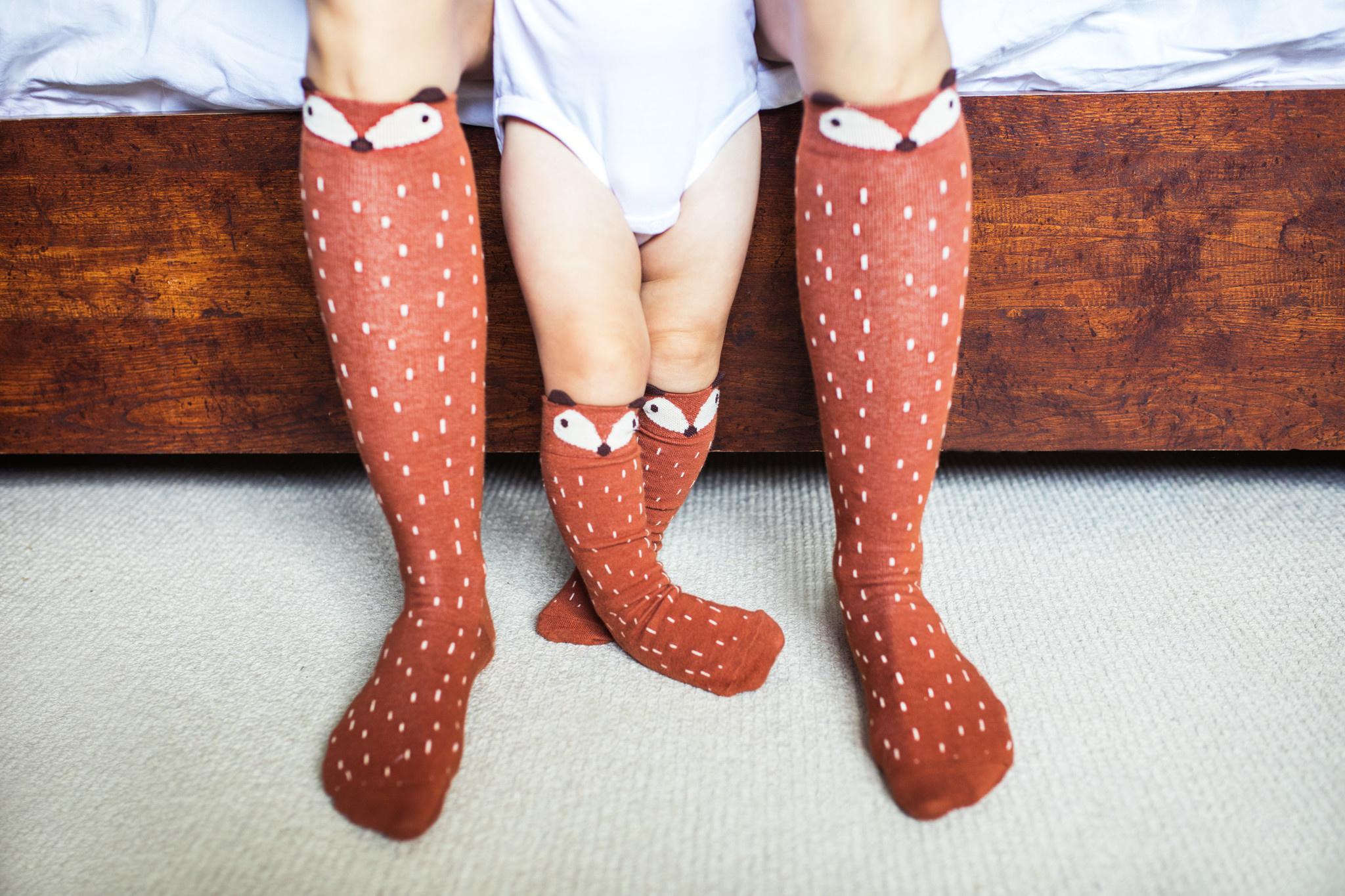 Mama's Feet Greg The Fox Knee Sock Ginger