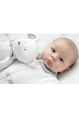 First Rompersuit Knitted Teddy Grey/White
