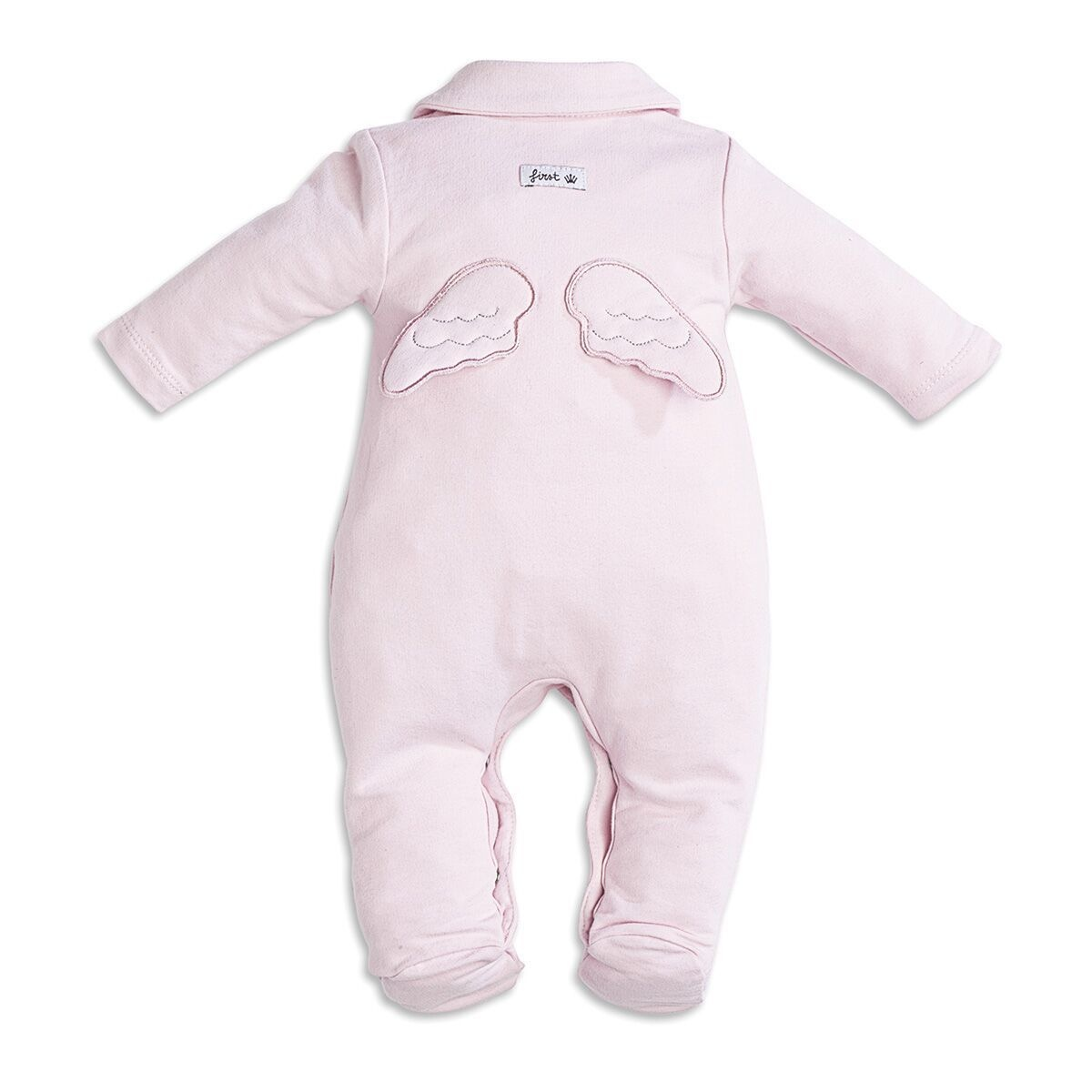 First Rompersuit Jersey Angel Wings Pink