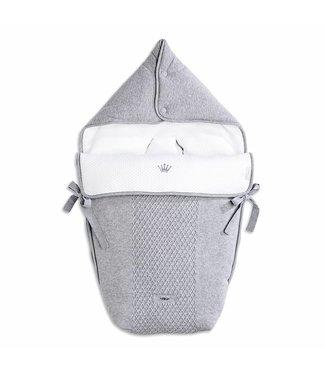 First Voetenzak Angels Knitted Grey