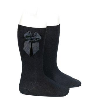 Condor Knee-High Socks With Bow Black