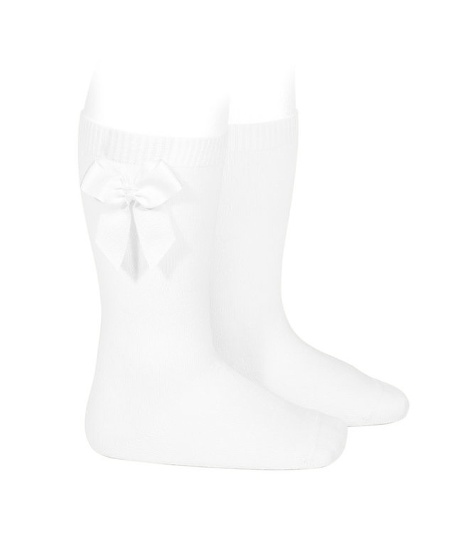 Condor Knee-High Socks With bow White