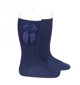 Condor Knee-High Socks With Bow Navy