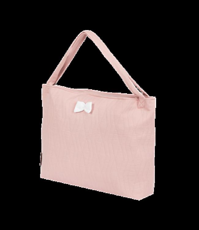 House Of Jamie On The Go Bag Geometry Jacquard Powder Pink