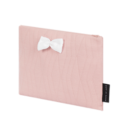 On The Go Clutch Geomertry Jacquard Powder Pink