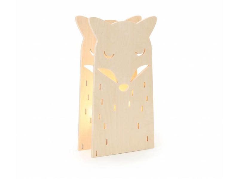 Miniwoo Table Lamp Wood Fox Incl.E14 Lamp Holder