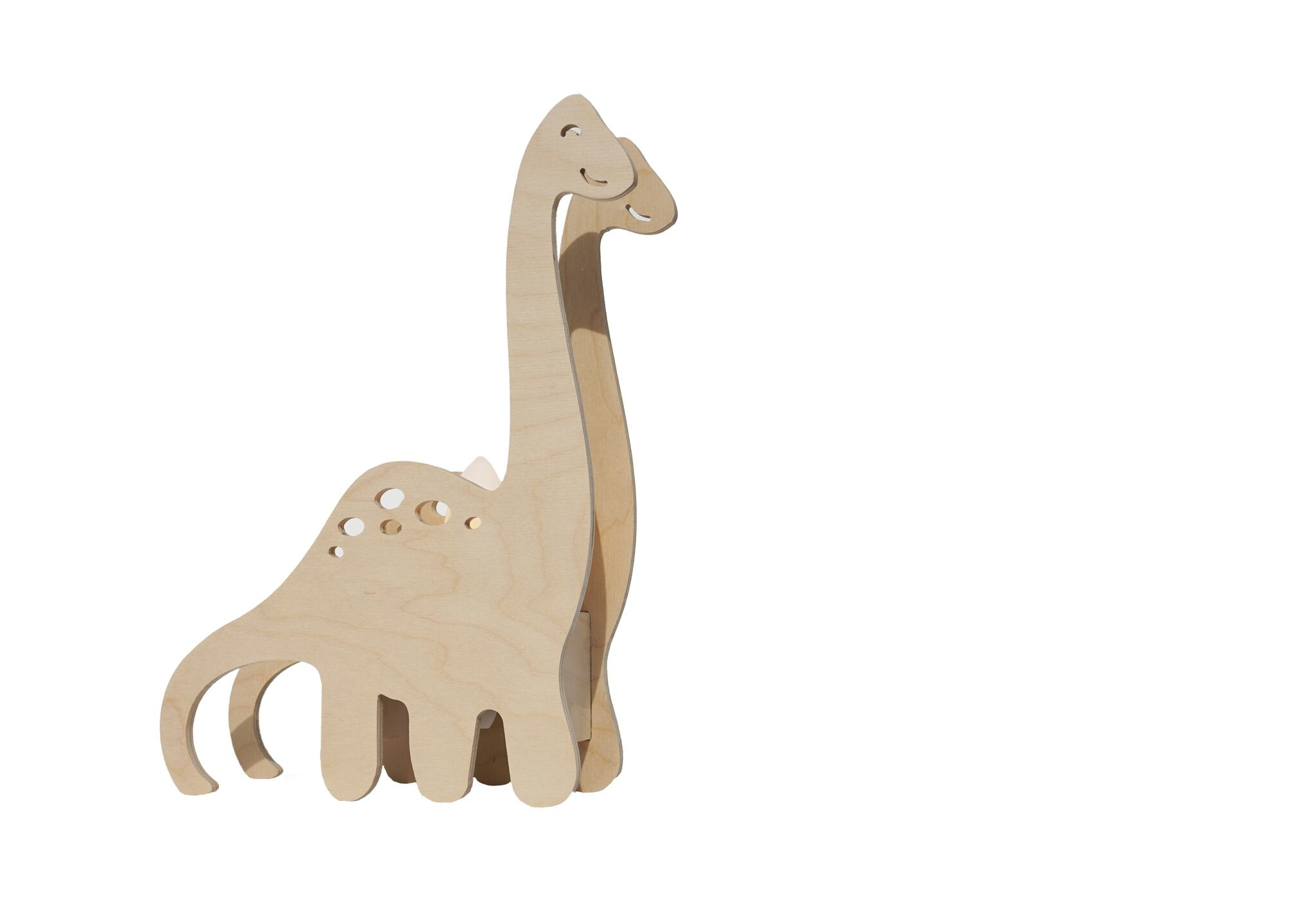 Miniwoo Table Lamp Wood Dino Incl.E14 Lamp Holder