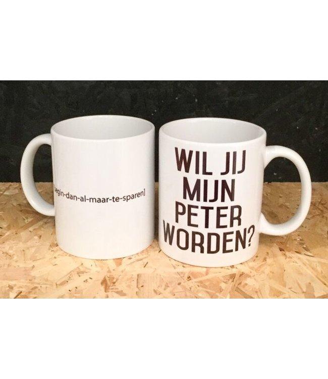 "Minimou Coffeemug ""Wil Jij Mijn Peter Worden?"""