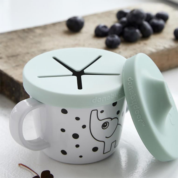 Done By Deer Drink & Snack Cup Elphee Blue