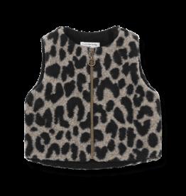 1+InTheFamily Alberta Bodywarmer Leopard Black Camel