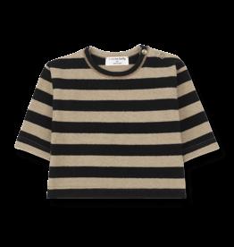 1+InTheFamily Shirt Vienna Knit Stripe Black Beige