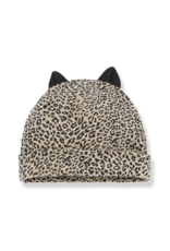 1+InTheFamily Beanie Assen With Ears Leopard Black Beige