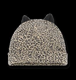 1+InTheFamily Beanie Assen With Ears Leopard Black Beige