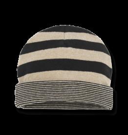 1+InTheFamily Beanie Linz Stripe Black Beige