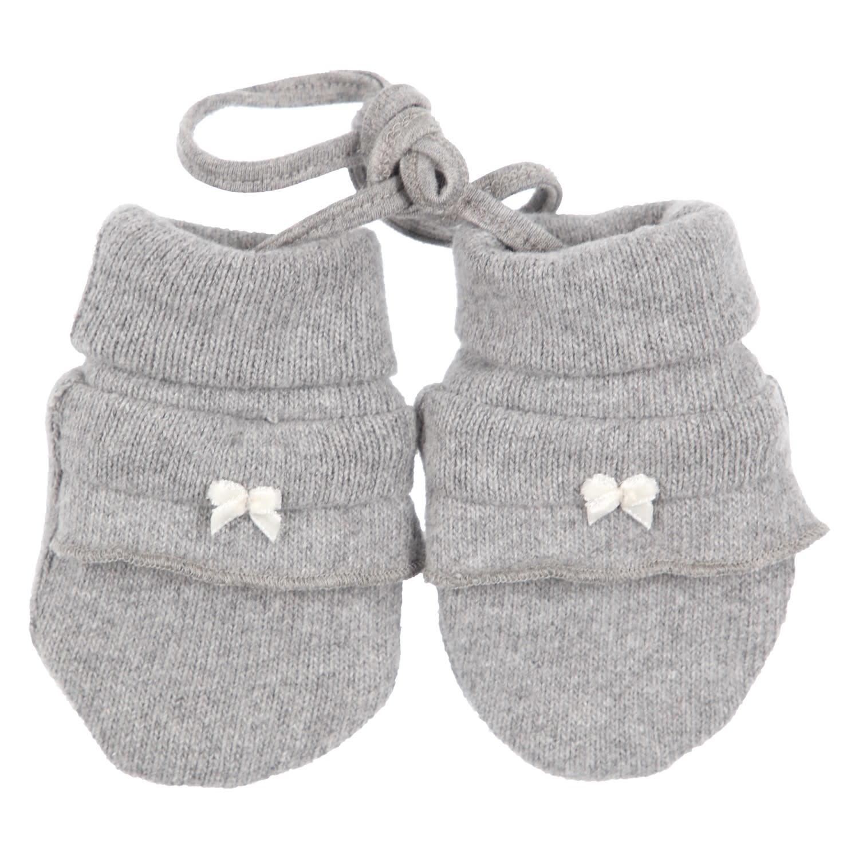 Gymp Gloves Grey Bow White