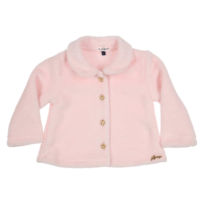 Gymp Fur Coat pink flower gold