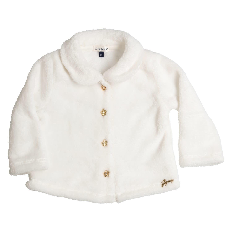 Gymp Fur Coat White Flower Gold
