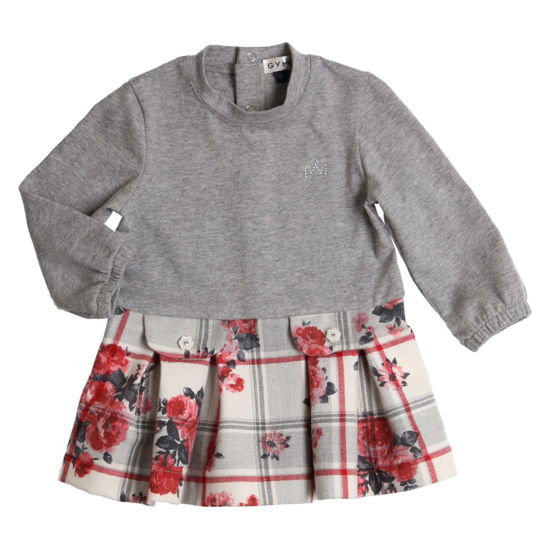 Gymp Dress Grey/Rasberry flower