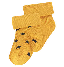 Noppies Levi  Stars Sock 2-Pack Honey Yellow 0-3M
