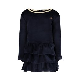 Le Chic Dress Stretch Velours Blue Navy