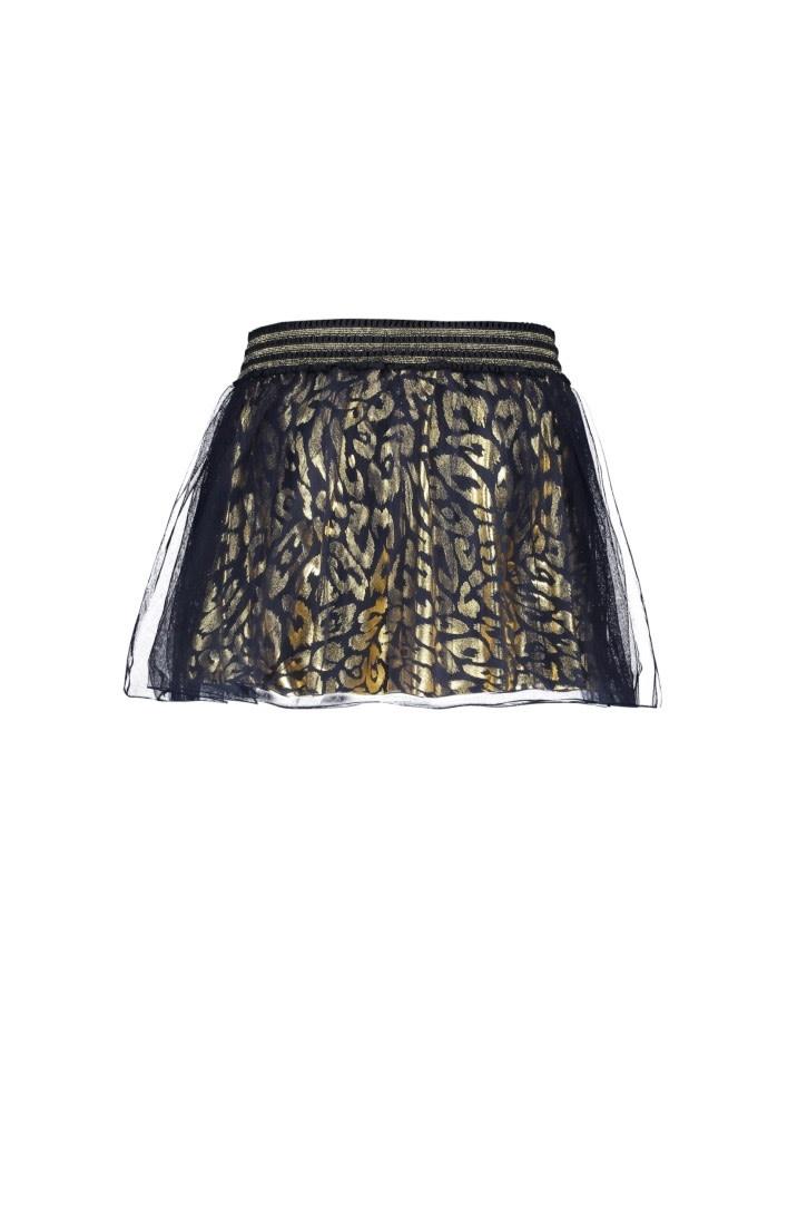 Le Chic Petticoat Leopard Spots Blue Navy