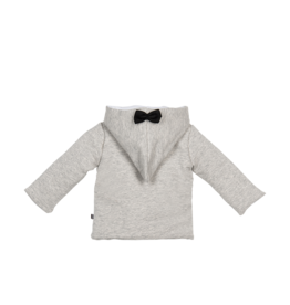 House Of Jamie Bow Tie Hooded Jacket Stone