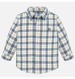 Mayoral Checked Shirt L/S  Blue Yellow